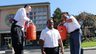 Mayor Alan DeSousa accepts our ICE BUCKET CHALLENGE!