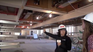 Construction Tour of Vanier's New Library