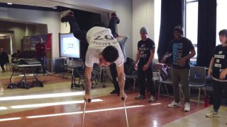 B-boy Lazy Legz at Vanier College – Disability Awareness Month