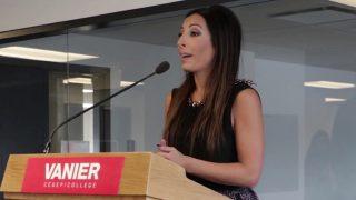 Vanier's Writing Centre Inauguration with special guest Natasha Gargiulo